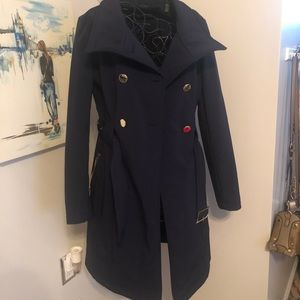 Navy Blue Guess Trench Coat